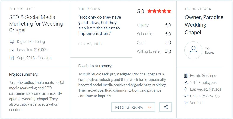 Reviews for Joseph Studios Marketing